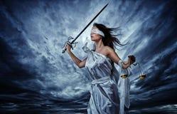 Femida,正义的女神 库存照片