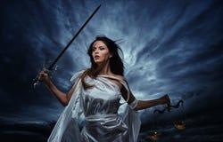 Femida, θεά της δικαιοσύνης στοκ φωτογραφία με δικαίωμα ελεύθερης χρήσης