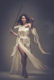 Femida, θεά της δικαιοσύνης στοκ εικόνα