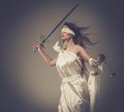 Femida, богиня правосудия стоковое фото rf