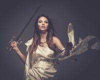 Femida, богиня правосудия стоковые изображения rf