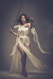 Femida, богиня правосудия стоковое изображение