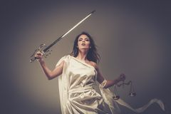 Femida, bogini sprawiedliwość Zdjęcia Royalty Free