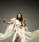 Femida, diosa de la justicia imagen de archivo libre de regalías