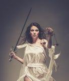 Femida, diosa de la justicia fotos de archivo libres de regalías