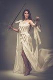 Femida, diosa de la justicia Fotografía de archivo