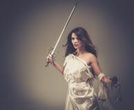 Femida, diosa de la justicia Foto de archivo libre de regalías