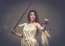 Femida, Göttin von Gerechtigkeit stockfotos