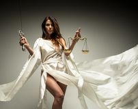 Femida, Goddess of Justice Stock Images