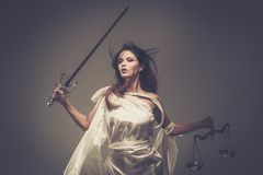 Femida, Goddess of Justice Royalty Free Stock Photos