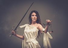 Femida, Goddess of Justice Stock Photos