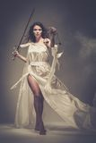 Femida gudinna av rättvisa Royaltyfria Bilder