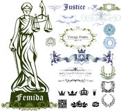Femida ornamental set Stock Photo