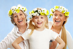 Feminine ages Stock Photography