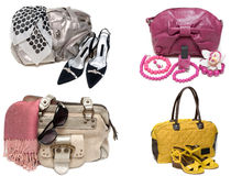 Feminine Bags, Loafers And Accessory Royalty Free Stock Photo