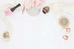 Feminine beauty background stock images