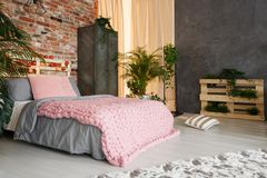 Feminine bedroom space Royalty Free Stock Images