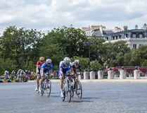 The Feminine Breakaway in Paris - La Course by Le Tour de France Royalty Free Stock Image
