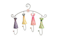 Feminine Clothes Hanger. A cute and colorful girls clothes hanger Stock Photo