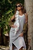 Feminine clothes style royalty free stock photos