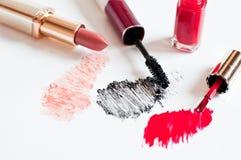 Feminine cosmetics on light background Royalty Free Stock Photography