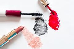 Feminine cosmetics on light background Royalty Free Stock Image