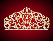 feminine decorative tiara crown with jewels Royalty Free Stock Images