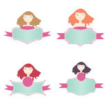 Feminine discount labels. For advertising and/or promotions Royalty Free Stock Photo