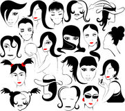 Feminine face Royalty Free Stock Image