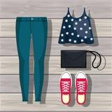 Feminine fashion design. Illustration eps10 graphic Stock Photo
