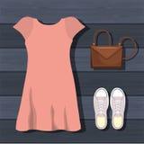 Feminine fashion design. Illustration eps10 graphic Royalty Free Stock Images