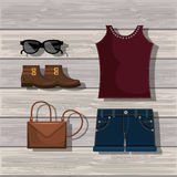 Feminine fashion design. Illustration eps10 graphic Stock Photos