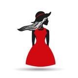 Feminine fashion design. Illustration eps10 graphic Royalty Free Stock Image