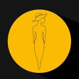 Feminine fashion design. Illustration eps10 graphic Stock Photography