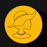 Feminine fashion design. Illustration eps10 graphic Royalty Free Stock Photo