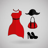 Feminine fashion design. Illustration eps10 graphic Royalty Free Stock Photography