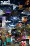 Feminine. Female form in bubbles in metaphysical landscape Stock Photo