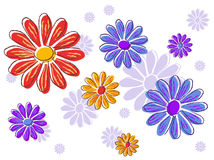 Feminine floral repeating pattern Royalty Free Stock Photos