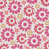 Feminine Flowers Pattern Stock Images