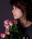 Feminine With Flowers Stock Photos