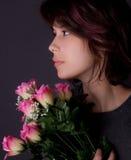 Feminine With Flowers Stock Photos