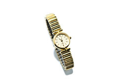 Feminine Gold Watch for Women royalty free stock photos