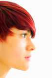 hair side profile short hairdo Royalty Free Stock Photo