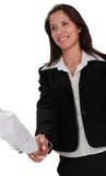 Feminine handshake Stock Photos