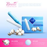 Feminine Hygiene Poster royalty free illustration