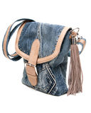Feminine jeans bag Royalty Free Stock Photo