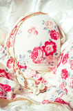 Feminine lacy underclothes background Royalty Free Stock Photos