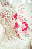 Feminine lacy underclothes background Stock Photos