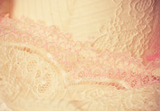 Feminine lacy underclothes background Stock Image
