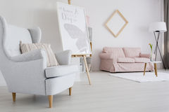 Feminine living room idea royalty free stock photos